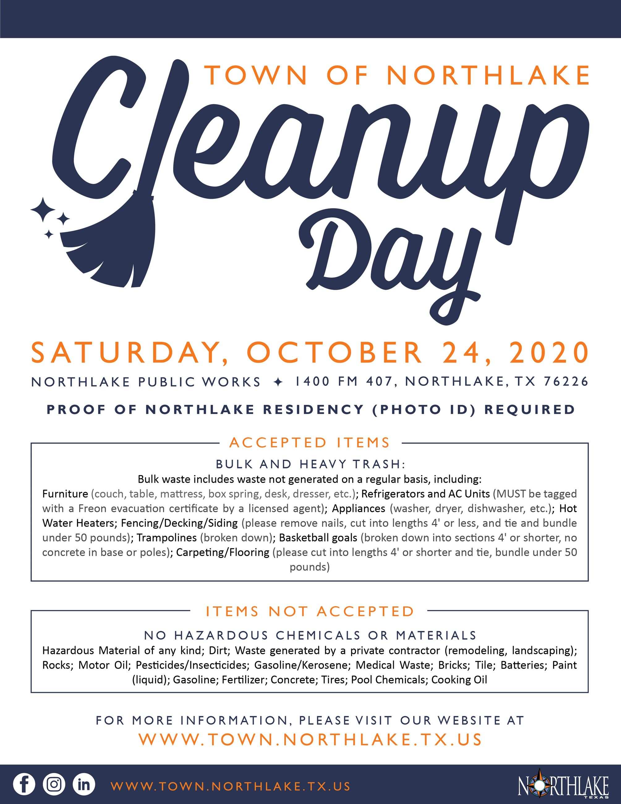 Fall 2020 Town Cleanup Day Flyer-01