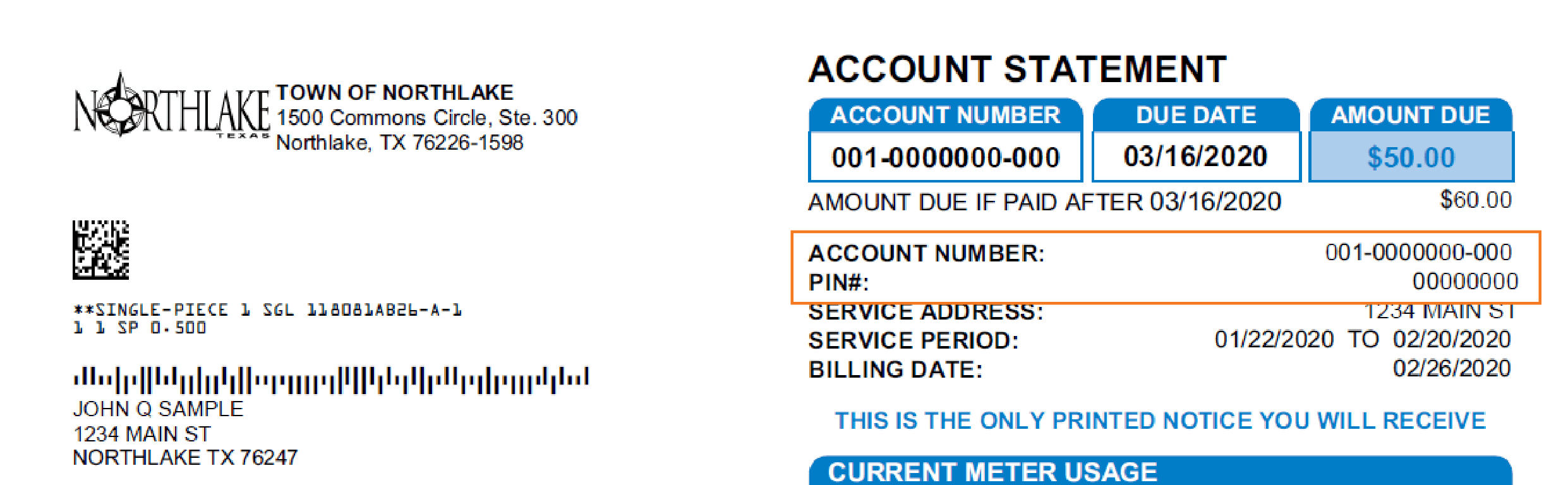 Account and Pin Location on Water Bill-01